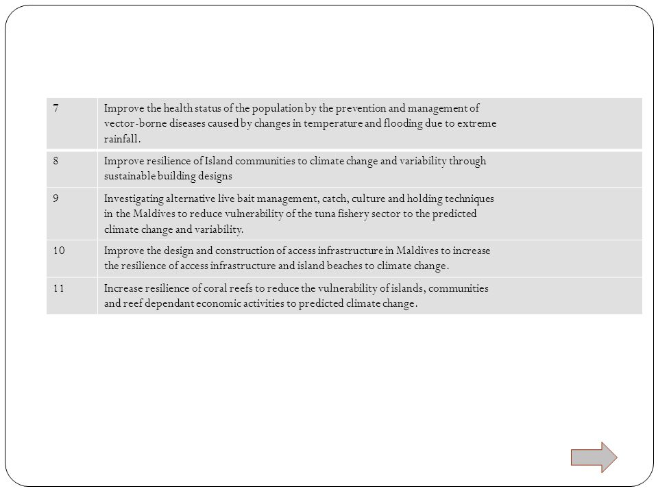 7 Improve the health status of the population by the prevention and management of.