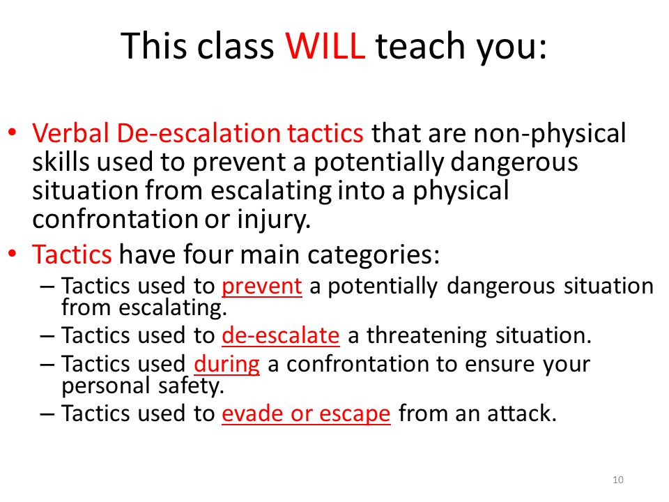 This class WILL teach you: