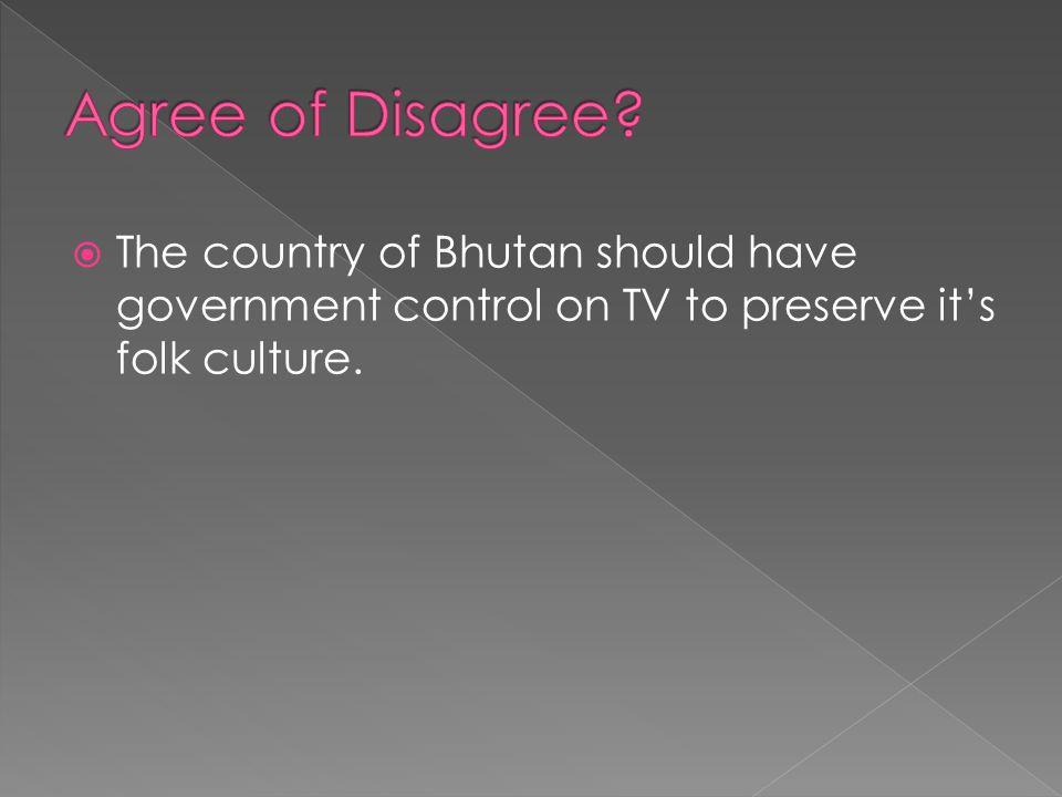 Agree of Disagree.
