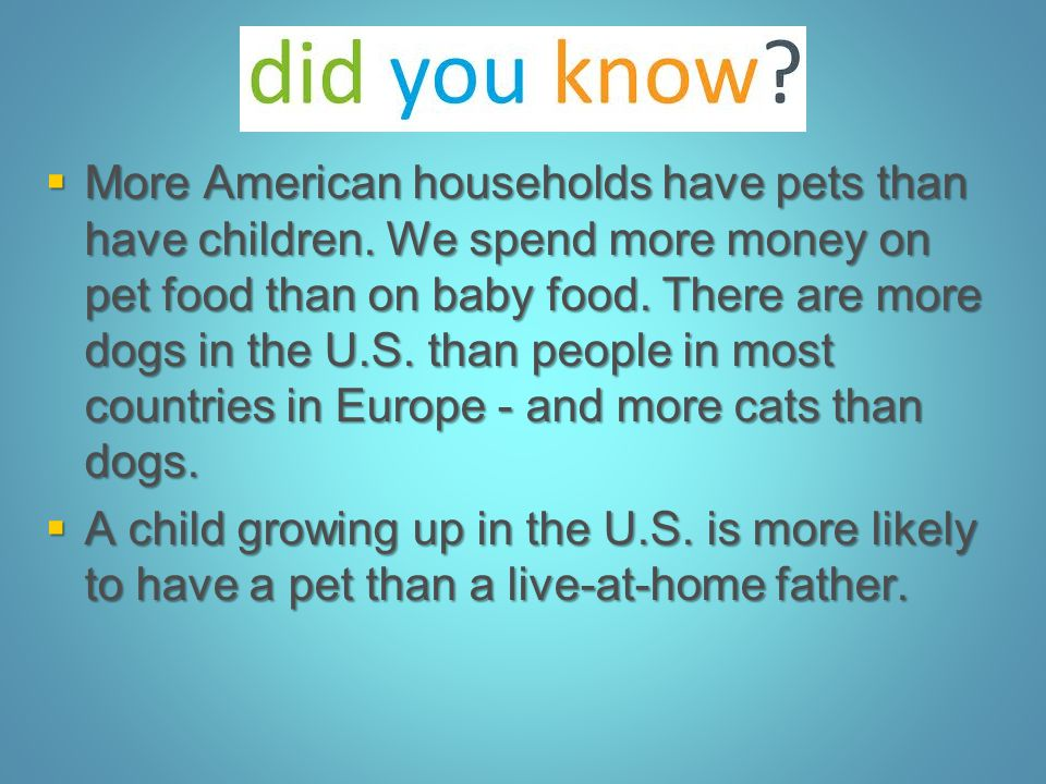 More American households have pets than have children