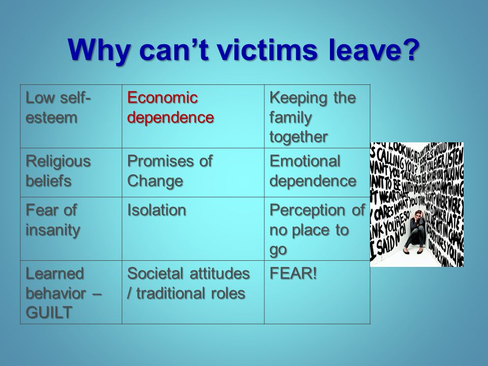 Why can't victims leave