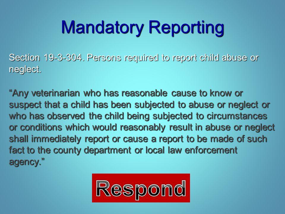 Respond Mandatory Reporting