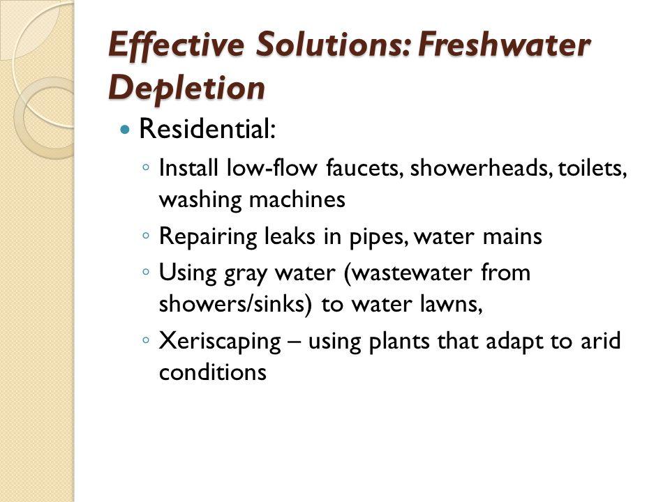 Effective Solutions: Freshwater Depletion