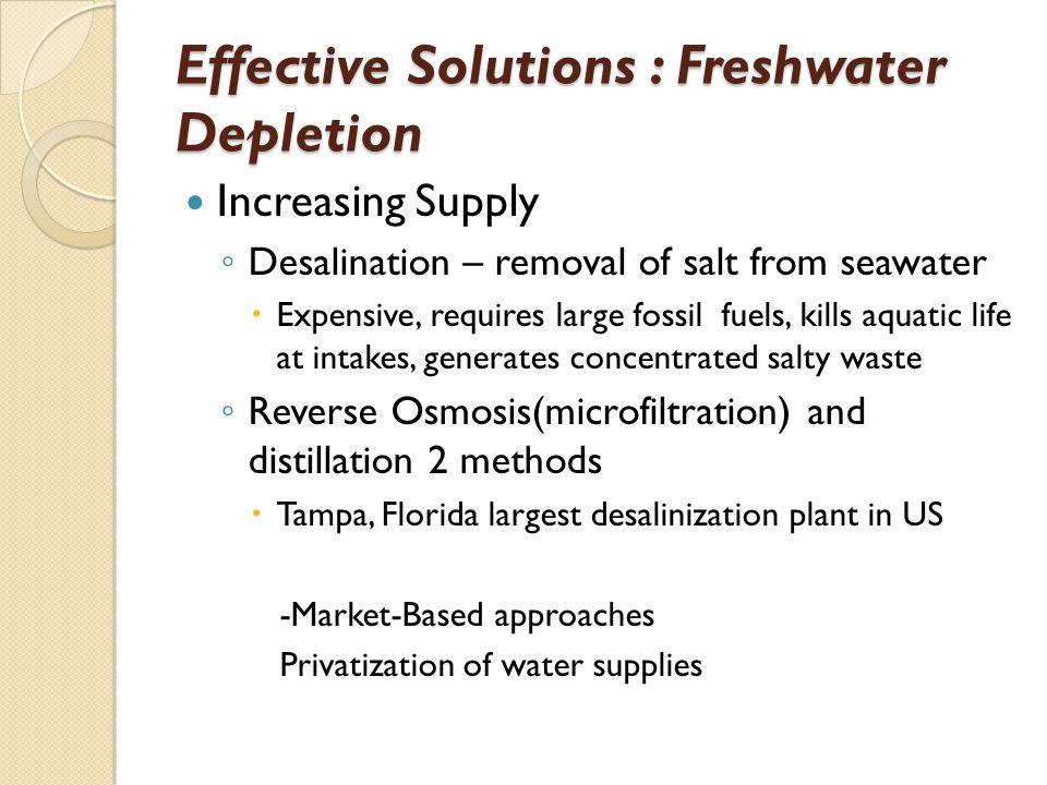 Effective Solutions : Freshwater Depletion
