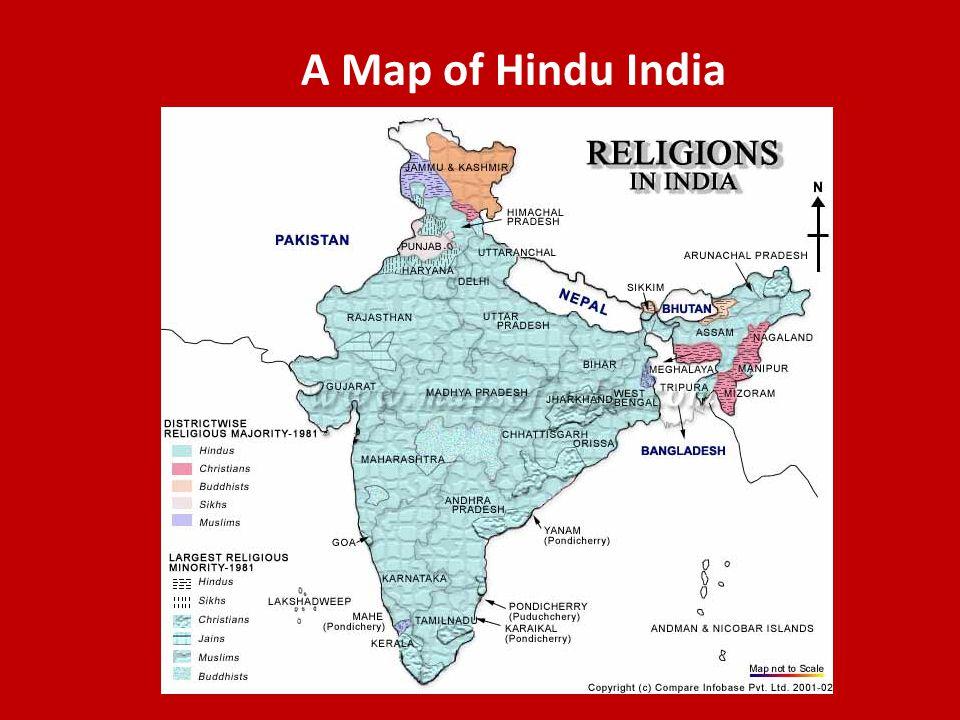 A Map of Hindu India