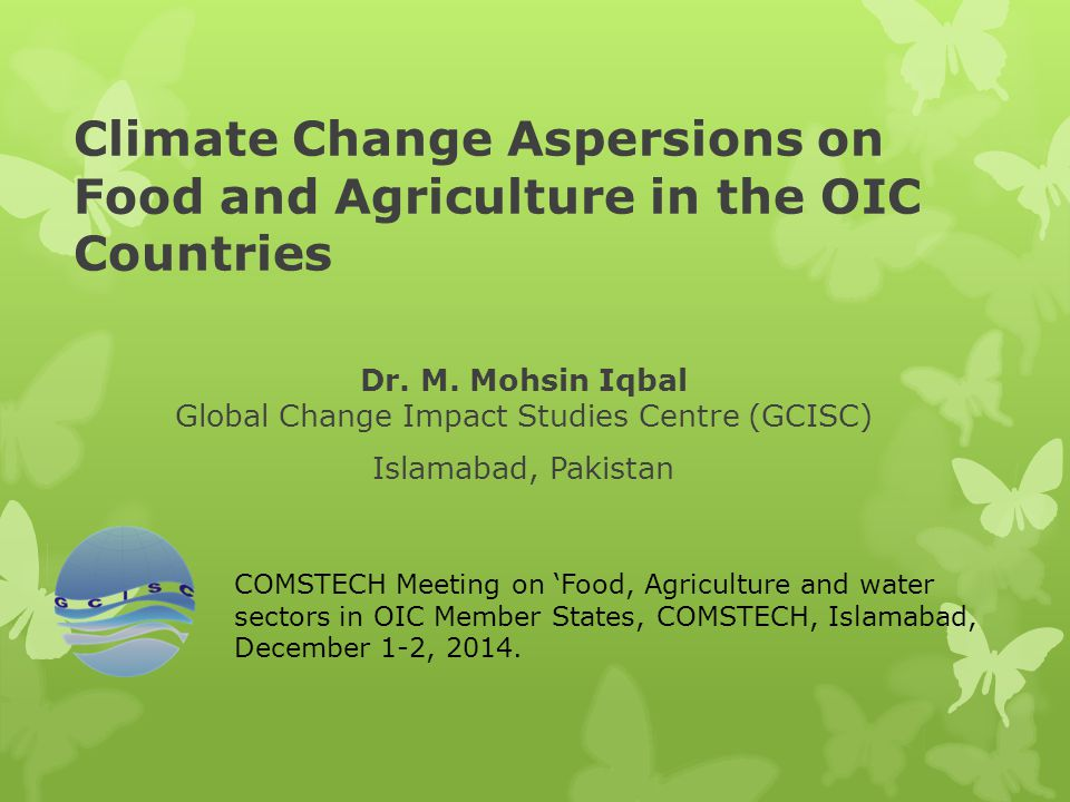 Climate Change Aspersions on Food and Agriculture in the OIC Countries