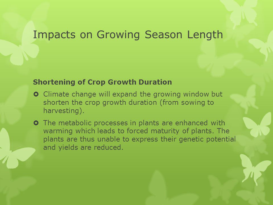 Impacts on Growing Season Length