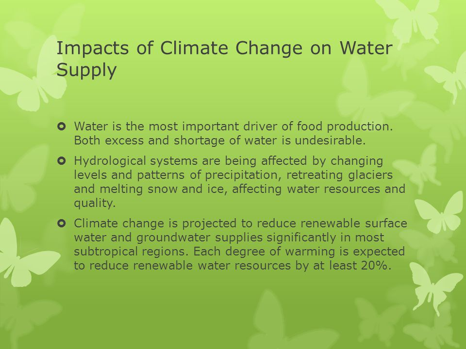 Impacts of Climate Change on Water Supply
