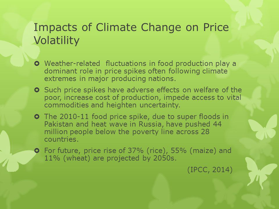 Impacts of Climate Change on Price Volatility