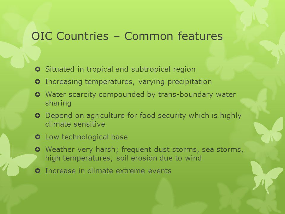 OIC Countries – Common features