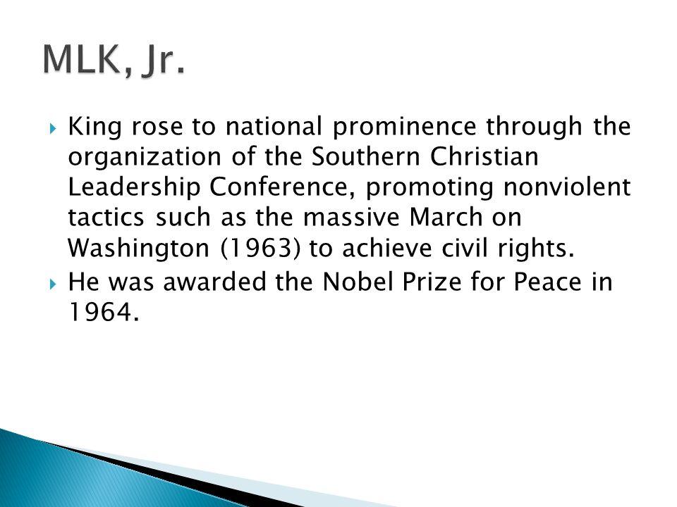 MLK, Jr.