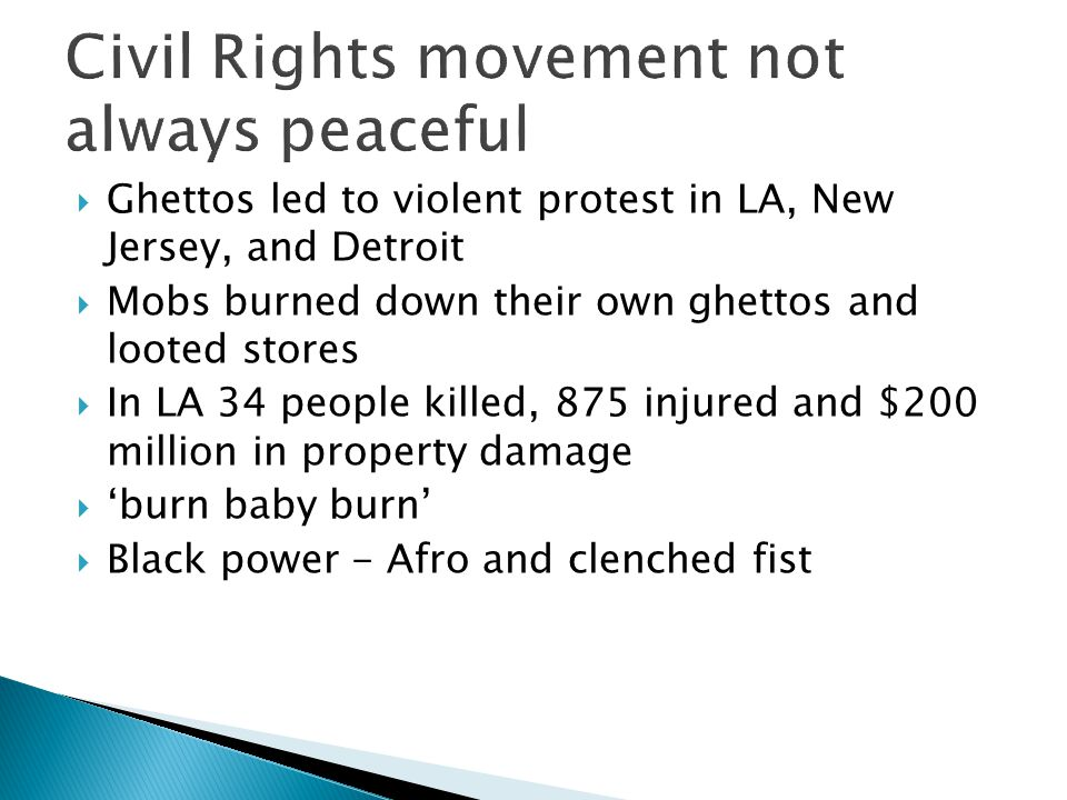 Civil Rights movement not always peaceful