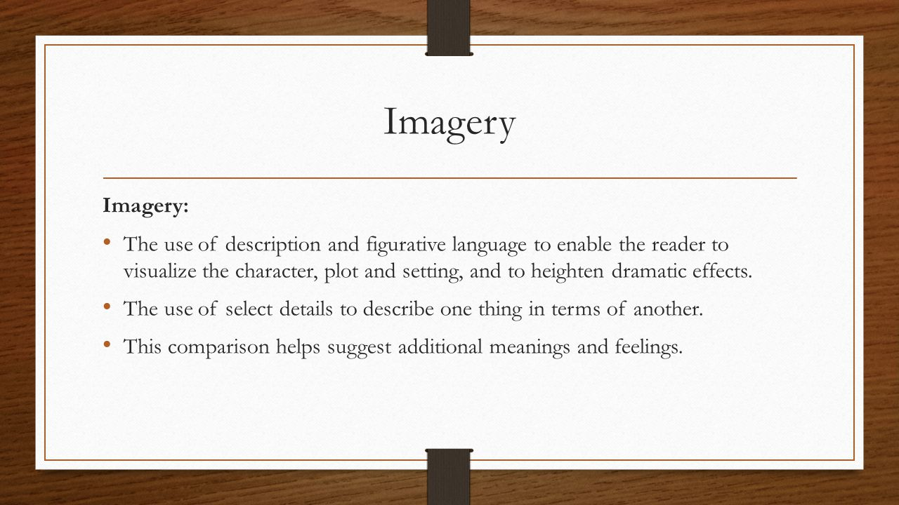 Imagery Imagery: