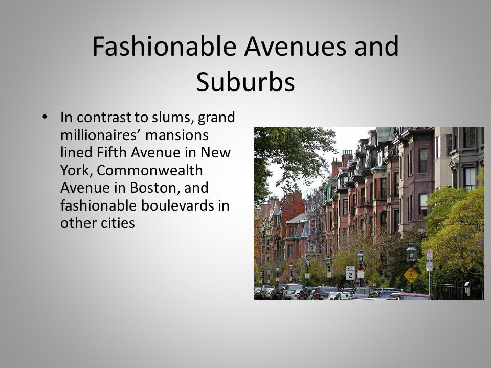 Fashionable Avenues and Suburbs