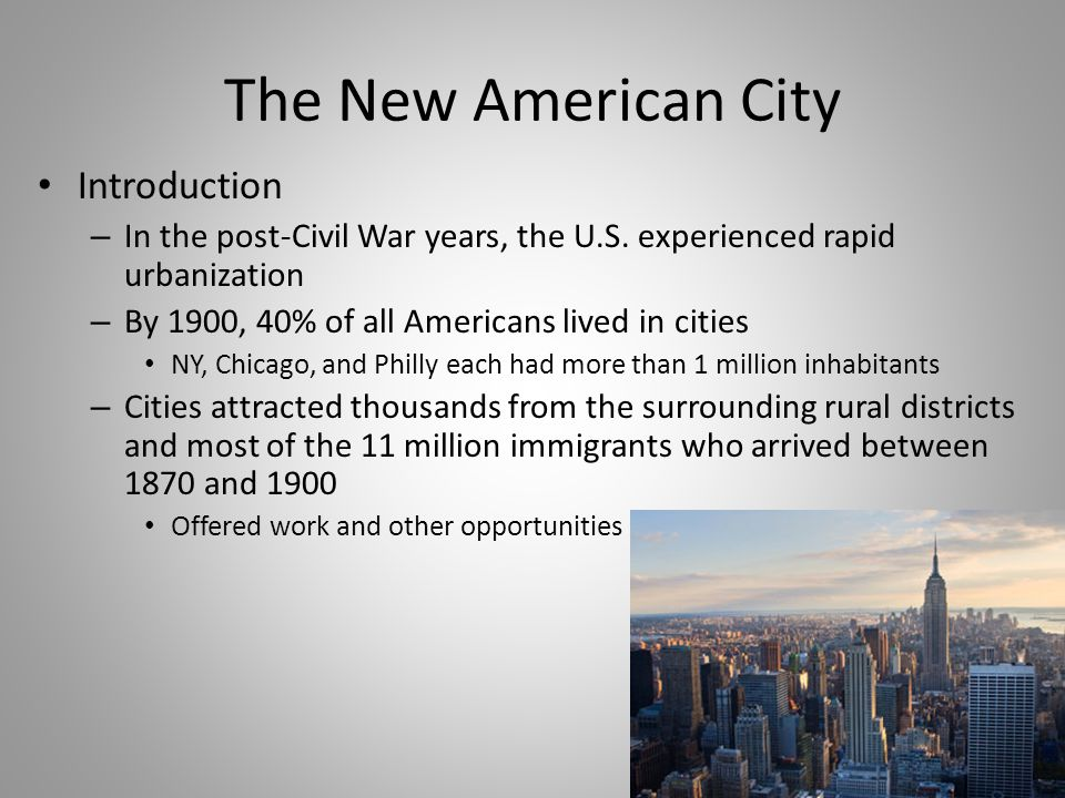 The New American City Introduction