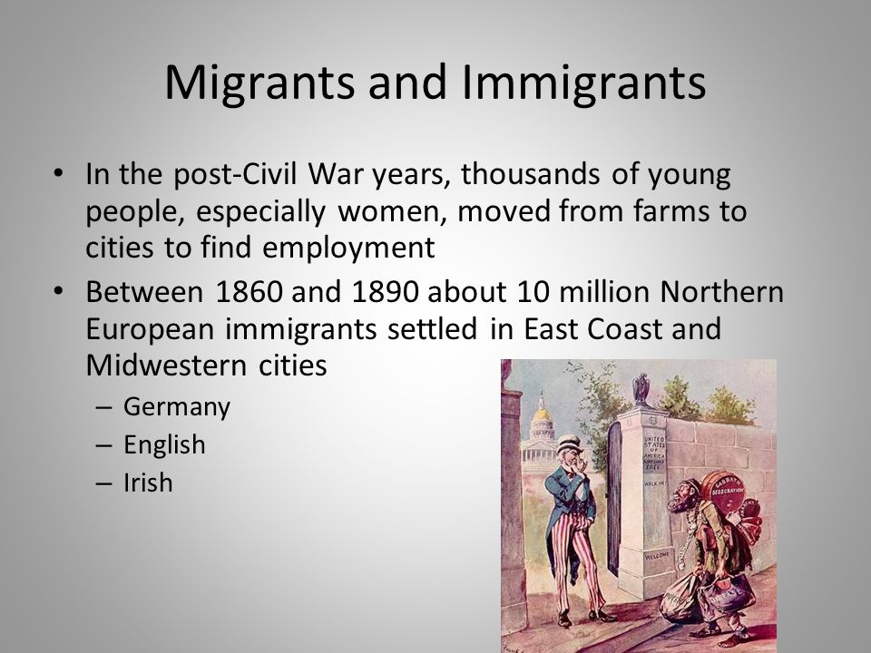 Migrants and Immigrants
