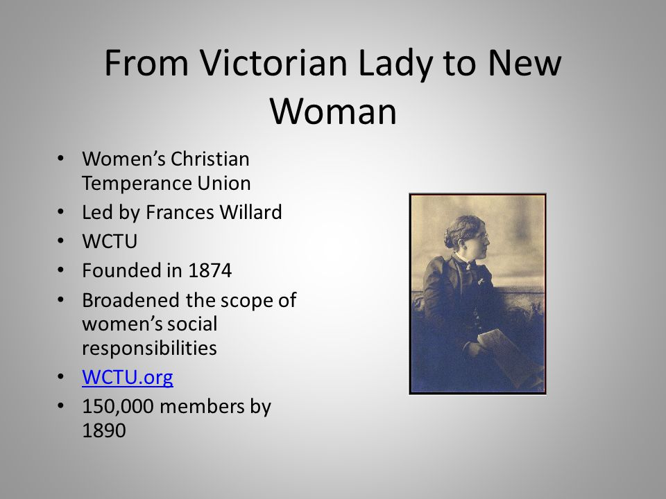 From Victorian Lady to New Woman