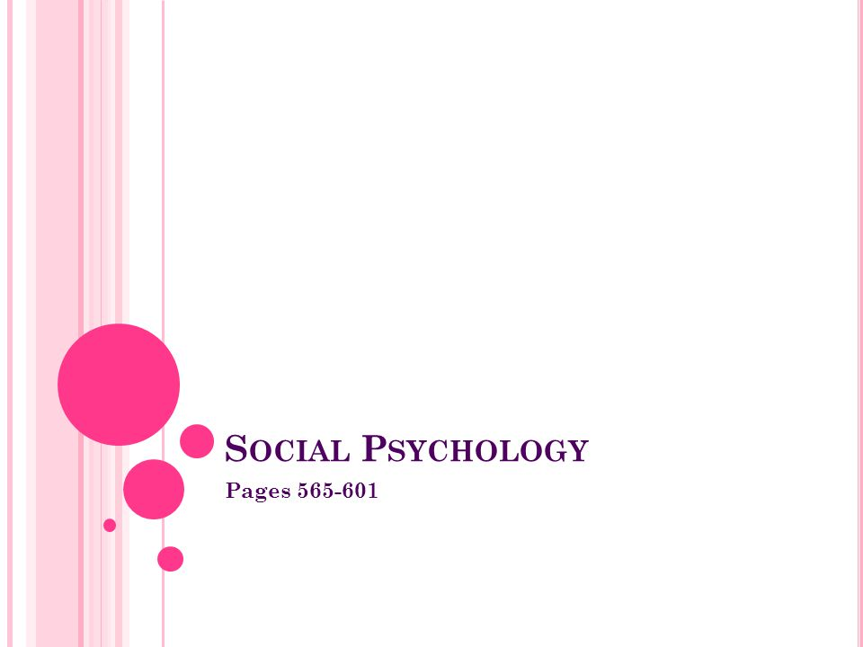 Social Psychology Pages 565-601
