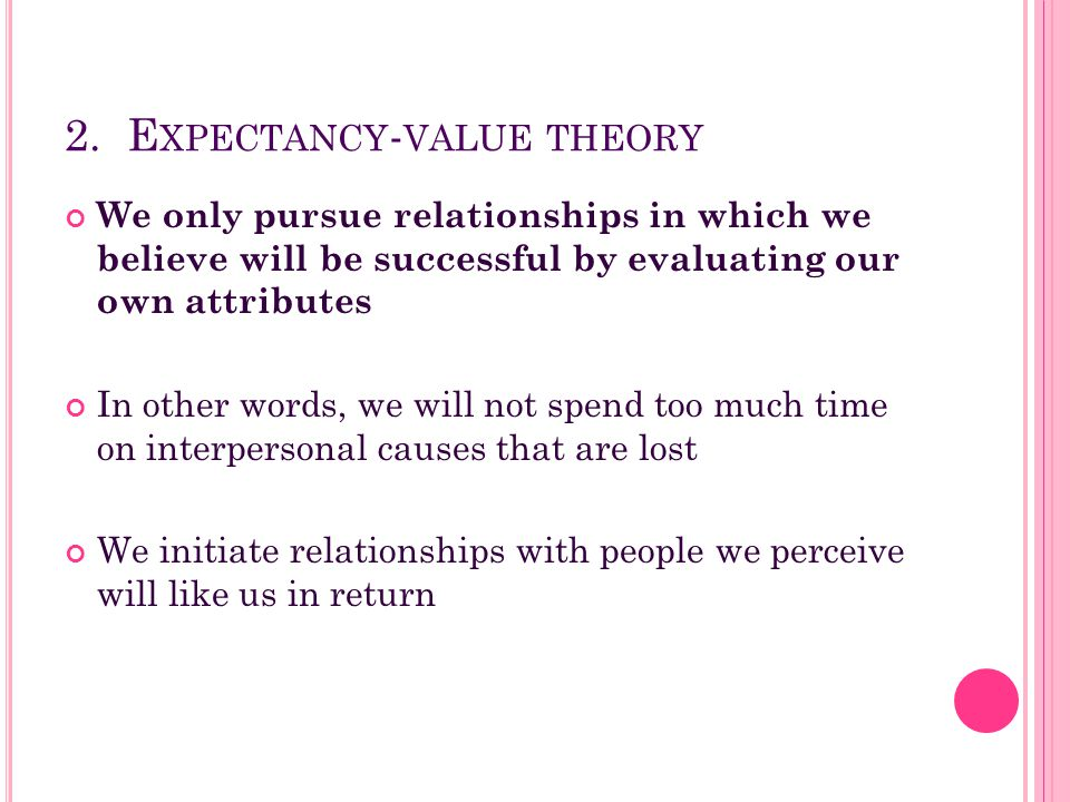 2. Expectancy-value theory