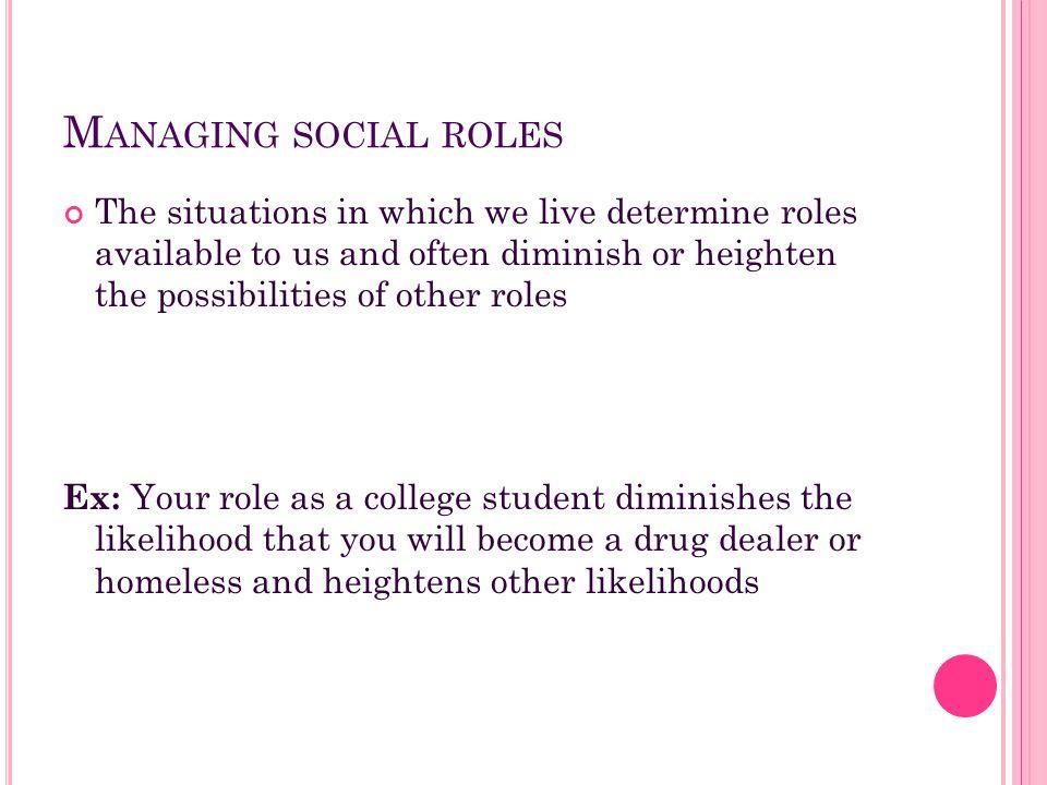 Managing social roles