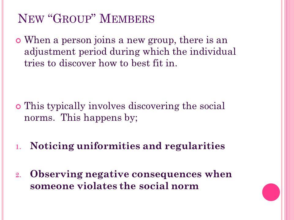 New Group Members