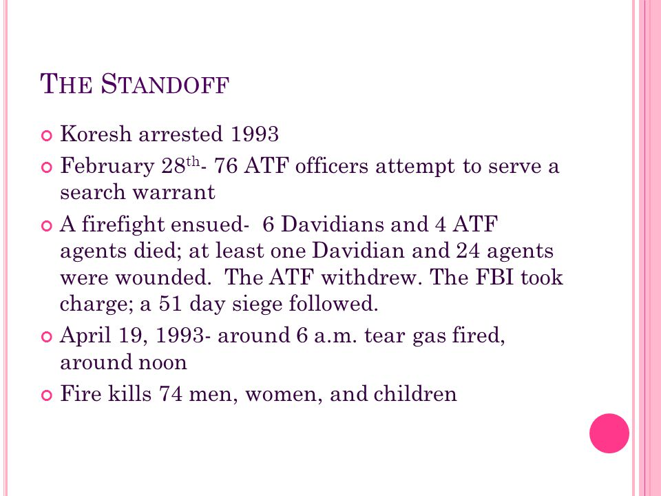 The Standoff Koresh arrested 1993
