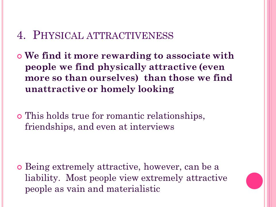 4. Physical attractiveness