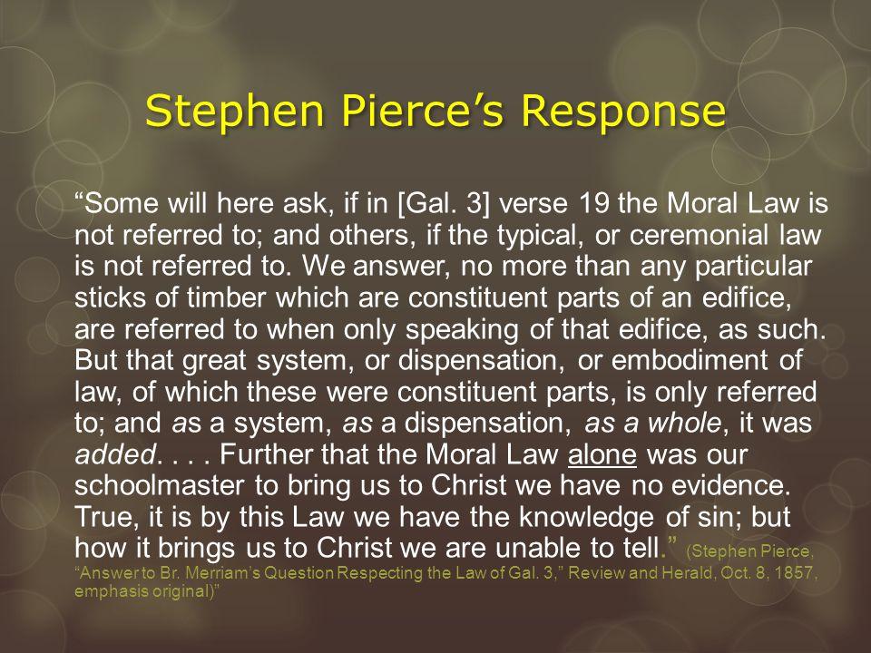 Stephen Pierce's Response