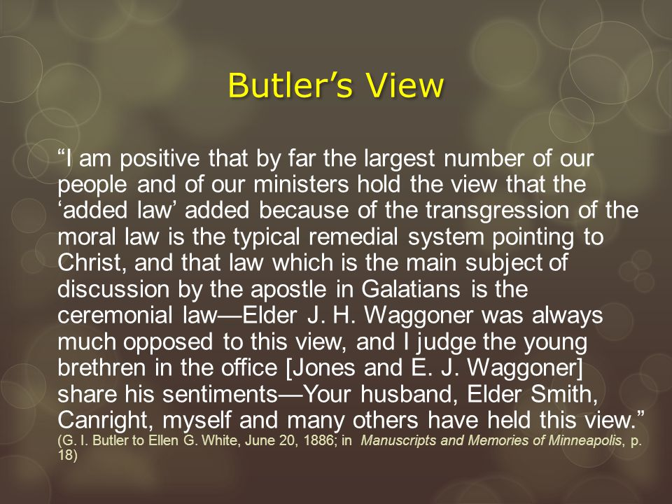 Butler's View