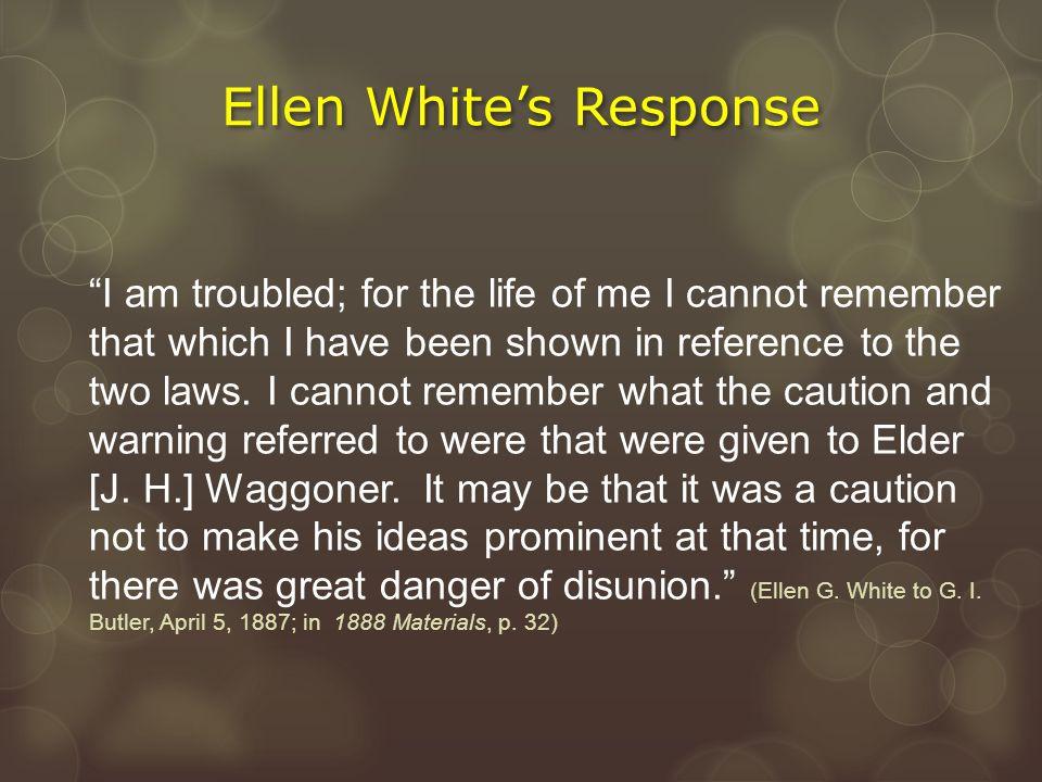 Ellen White's Response
