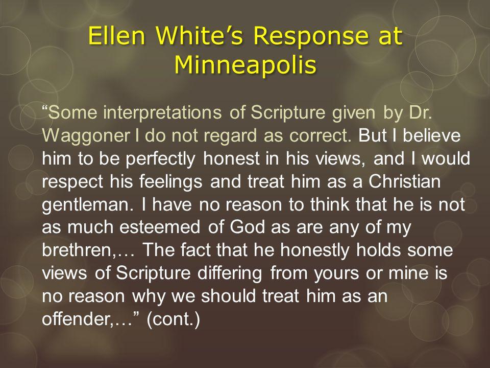 Ellen White's Response at Minneapolis