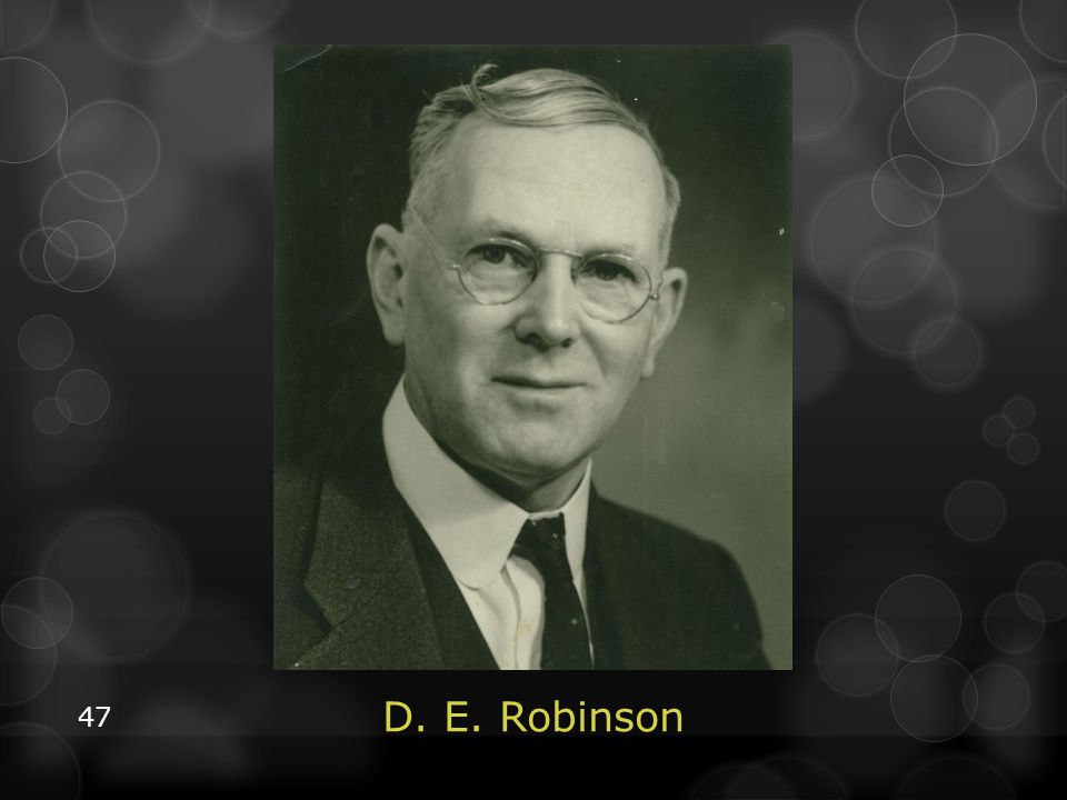 D. E. Robinson, born in 1879, was not present at the 1888 Minneapolis conference, but worked at the White Estate in the 1920s. After getting word of the week-of-prayer meetings Taylor Bunch did at PUC, Robinson wrote him a letter of concern. Although he readily admitted that there was opposition, he animatedly opposed the idea that the message of Righteousness by faith had been rejected/resisted to a large degree by the church or denominational leadership.