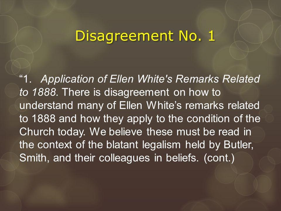 Disagreement No. 1