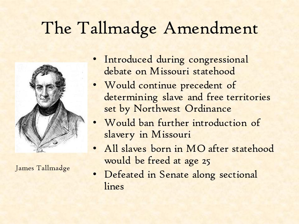 The Tallmadge Amendment