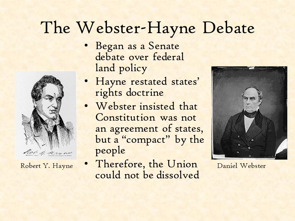 The Webster-Hayne Debate