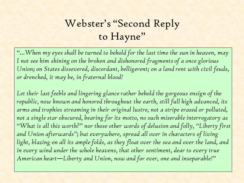 Webster's Second Reply to Hayne