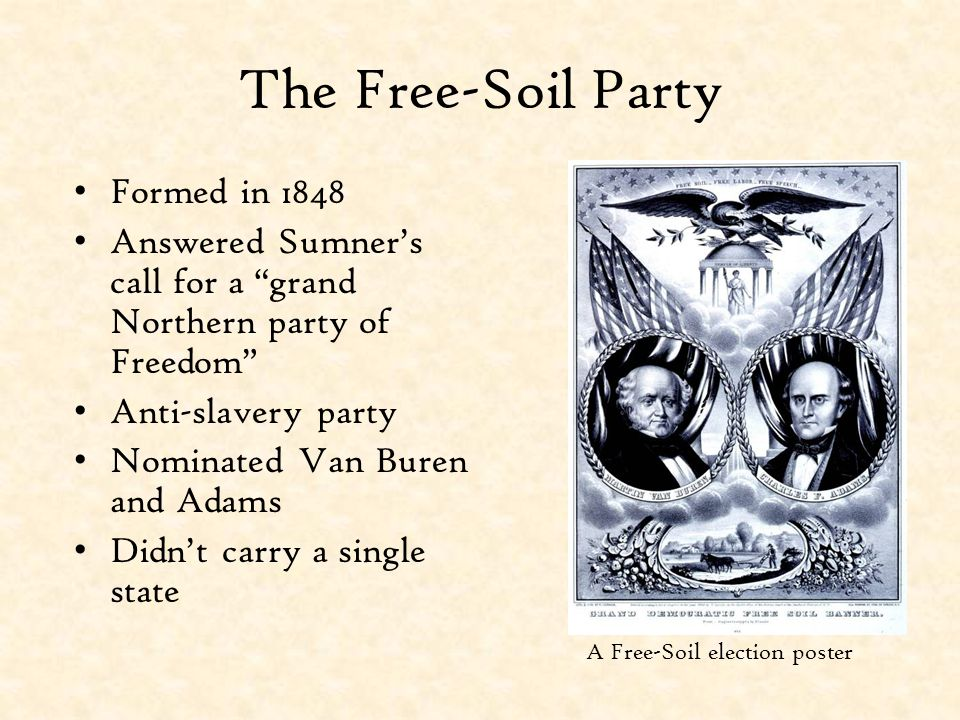 The Free-Soil Party Formed in 1848