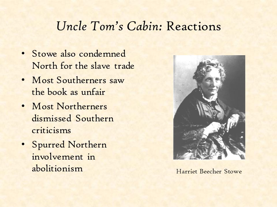 Uncle Tom's Cabin: Reactions