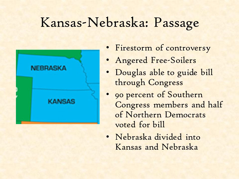 Kansas-Nebraska: Passage