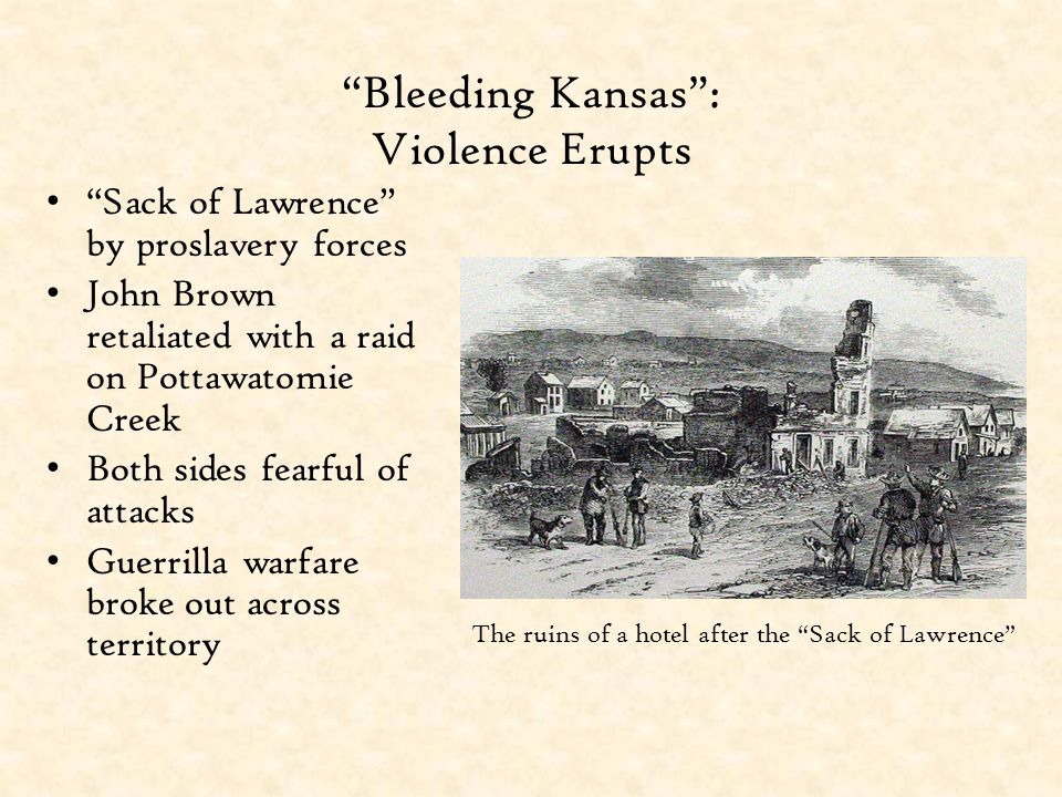 Bleeding Kansas : Violence Erupts
