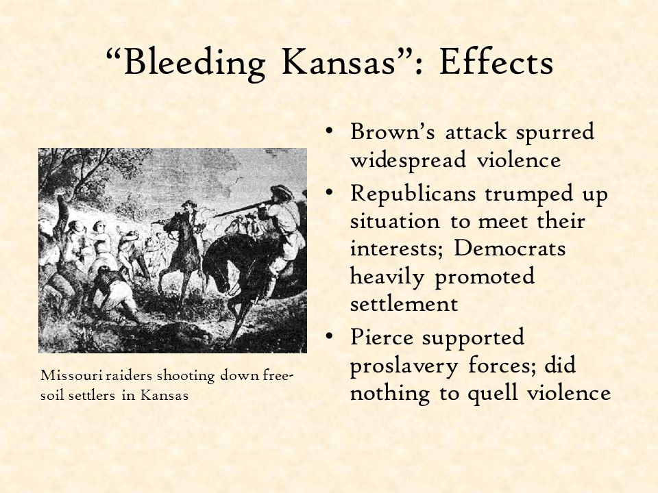 Bleeding Kansas : Effects