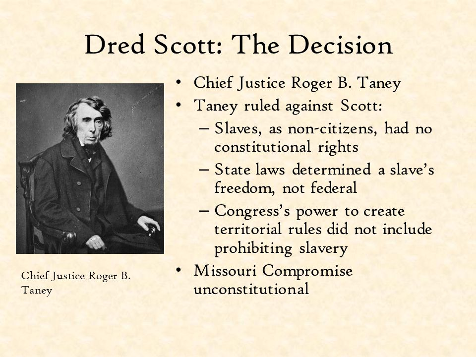 Dred Scott: The Decision