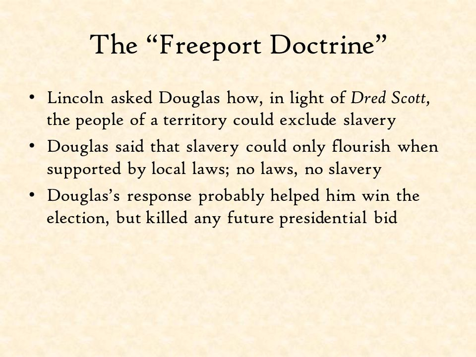 The Freeport Doctrine