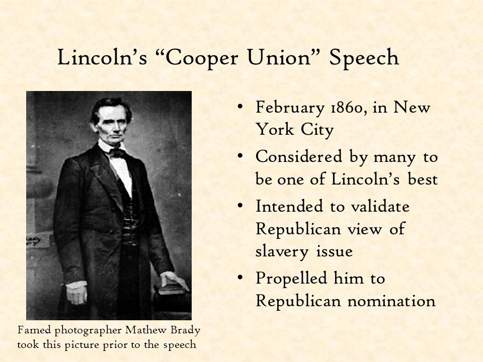 Lincoln's Cooper Union Speech