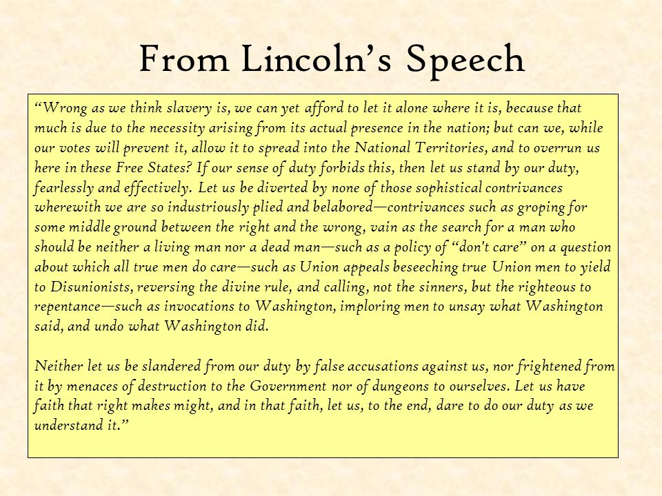 From Lincoln's Speech