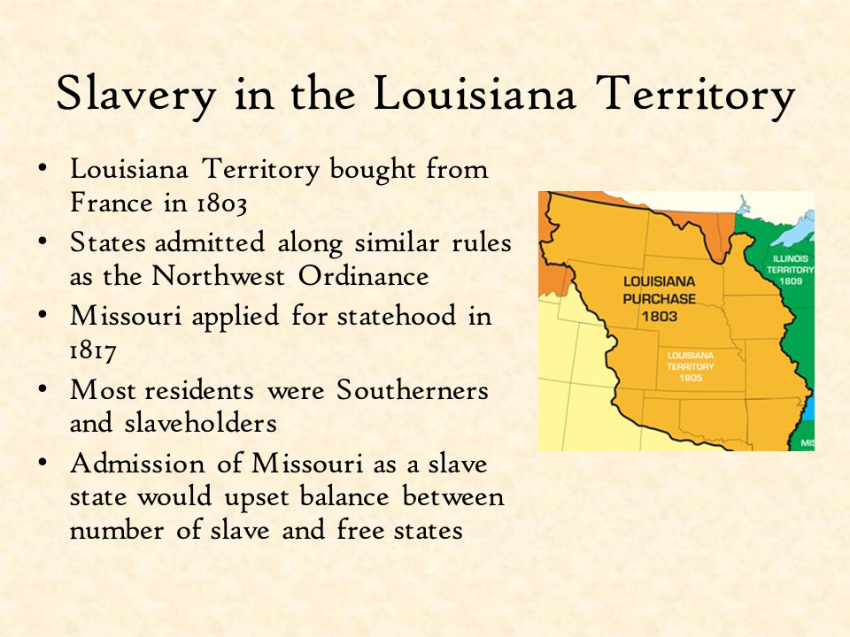 Slavery in the Louisiana Territory