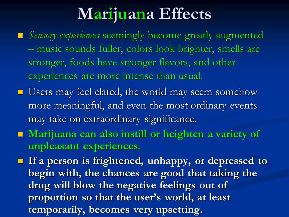 Marijuana Effects