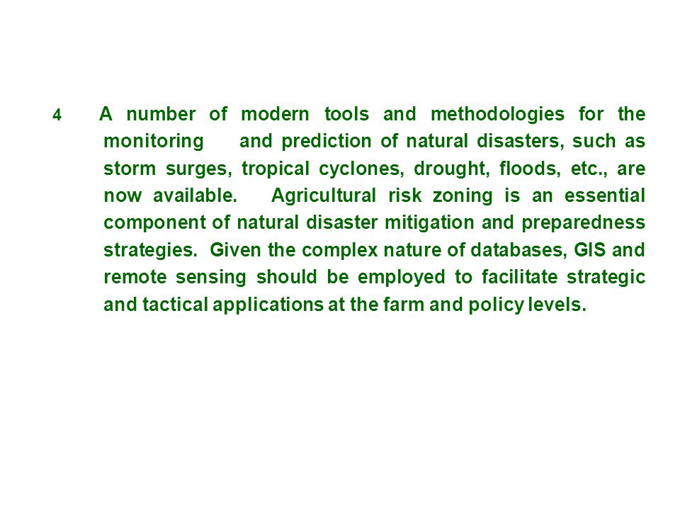 4. A number of modern tools and methodologies for the. monitoring