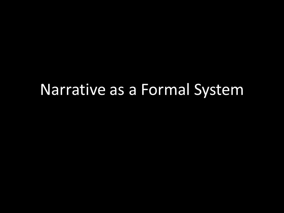 Narrative as a Formal System