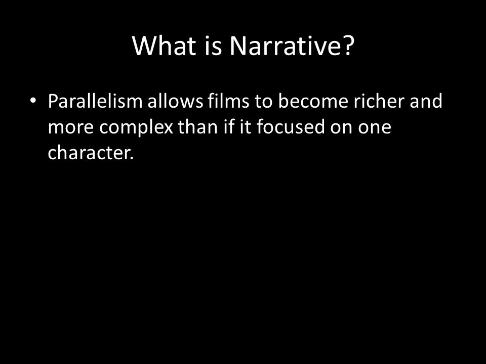 What is Narrative.